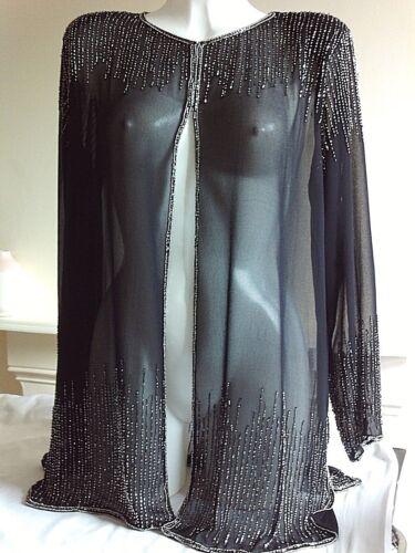 Nouveau Femmes Sequin Veste Tunique Noir Mariage Performance Fête Blazer paillettes