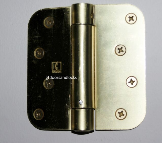 "Hager Hinge 1752 5//8 Radius US5 Antique Brass 4/"" x 4/"" Spring Loaded Self Closing"