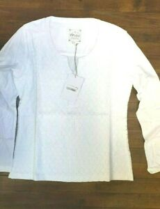 MISTRAL-WHITE-LACE-FRONT-100-COTTON-BLOUSE-SHIRT-TOP-LONG-SLEEVES-NEW