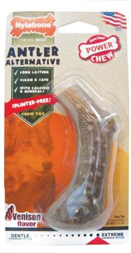 Splinter Free Nylon Powerful Chewers Dog Chew Toy NYLABONE DURA CHEW ANTLER