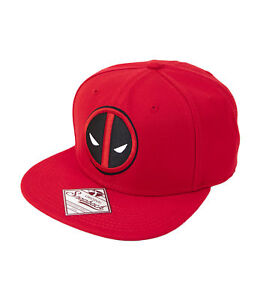 Deadpool Giant Logo Snapback Hat Red