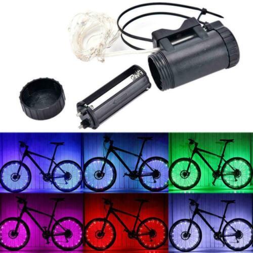 Waterproof Color 20 bright LED Light Bike Lamp Cycling Wheel Light Spoke 20 K3H8