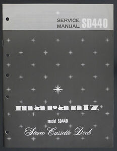 Marantz Model Sd440 Original Stereo Cassette Deck Service-manual/diagram O124 Tv, Video & Audio