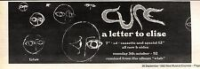 """26/9/92PGN61 THE CURE : A LETER TO ELISE SINGLE ADVERT 3X11"""""""