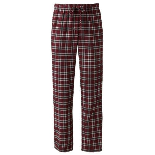 New Croft/&Barrow Men Plaid Flannel Lounge//Pajama PJ Pants Big/&Tall 4XB MSRP $30