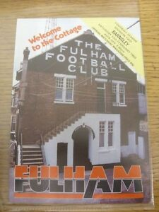 12021983 Fulham v Barnsley Postponed  Item appears to be in good condition - <span itemprop=availableAtOrFrom>Birmingham, United Kingdom</span> - Returns accepted within 30 days after the item is delivered, if goods not as described. Buyer assumes responibilty for return proof of postage and costs. Most purchases from business s - Birmingham, United Kingdom