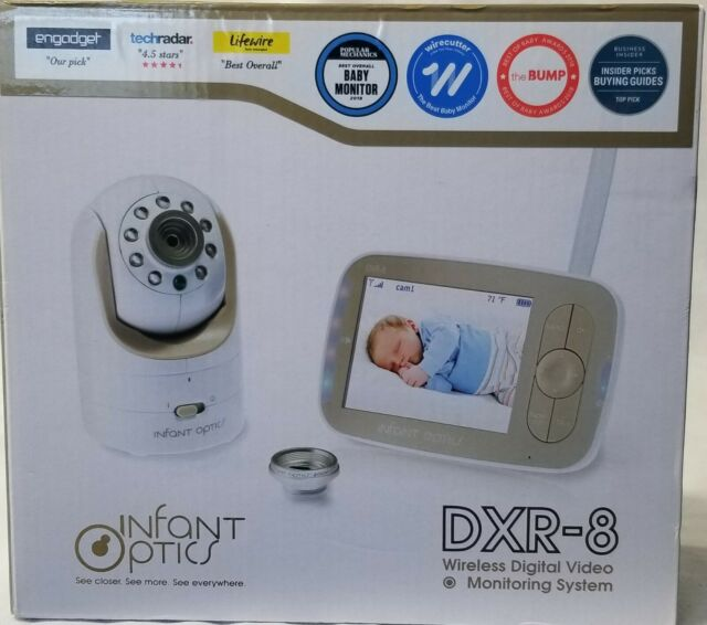 Baby Monitor Video Camera LCD Display Interchangeable Optical Lens Infant Optics