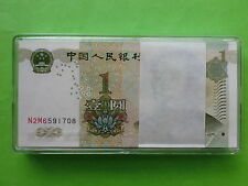 China $1 4th series (1999) 100pcs (1 bundle) (UNC) 全新人民币一元, Free PPE Box