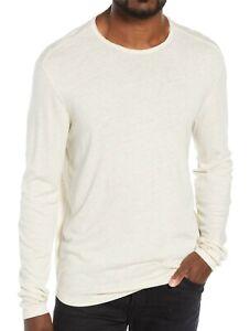 John-Varvatos-Star-USA-Men-039-s-Long-Sleeve-Raw-Cut-Edge-Crew-Tee-Shirt-Natural