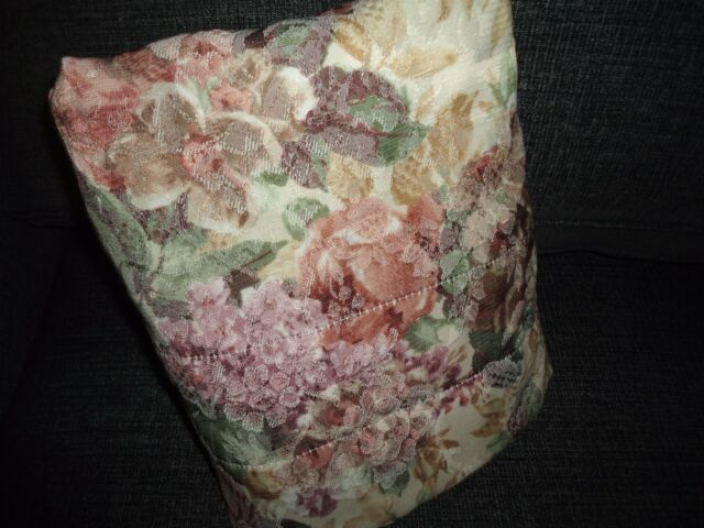 CROSCILL COTSWOLD ROSE CINNAMON GREEN FLORAL (1) LINED DRAPERY PANEL 40 X 85