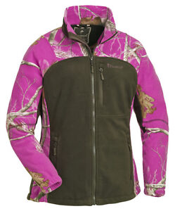 Pinewood-Ladies-Fleece-Jacket-Realtree-AP-Pink-amp-Moss-Green-Shooting