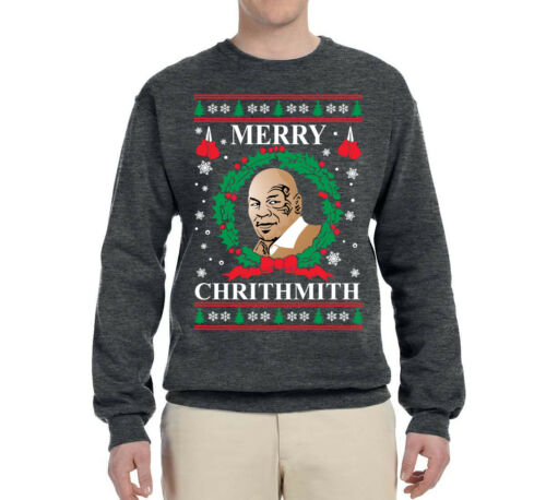 Merry Chrithmith Mike Tyson Ugly Christmas Sweater Funny Holiday Sweatshirt