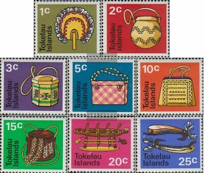 kompl.ausg. Tokelau 18-25 Jahrgang 1971 Komplett Postfrisch 1971 Einheimisches