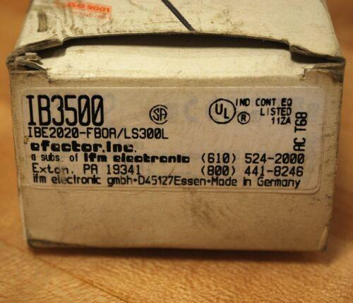 Efector IBE2020-FBOA//LS300L Proximity Sensor NEW