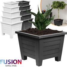 Large Plastic Flower Plant Square Pots Indoor Outdoor Pot Garden Container Patio