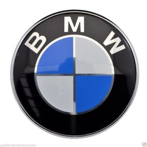82mm Front Badge Emblem Logo Bonnet Hood 2 Pins For Bmw