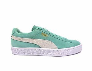 Puma Women s SUEDE CLASSIC Shoes Mint-Holiday White 355462-32 a  77e4ae766