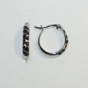 Image Is Loading 20mm Oval Shaped Hoop Black White Striped Diamond