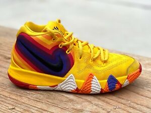 Nike-Kyrie-4-Uncle-Drew-Basketball-Shoes-Sneakers-Youth-Size-5Y-Yellow-GREAT