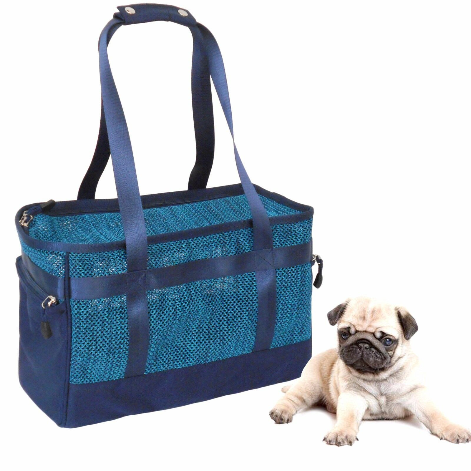 Mesh Pet Dog Cat Travel Carriers Pet Totes Bag Doggy Basket Doggie Handbag Puppy
