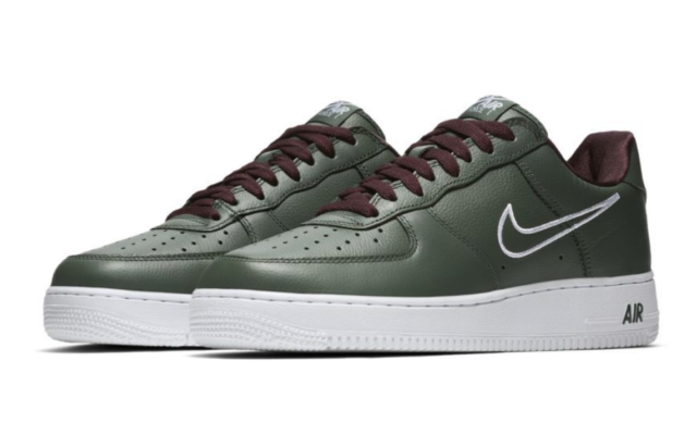 Nike Air Force 1 Low Retro Hong Kong Size 11 Deep Forest White 845053 300