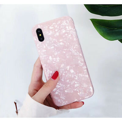 Bright Marble Shockproof Soft Shell Phone Case Cover For iphone 6 6s 7 8 plus X