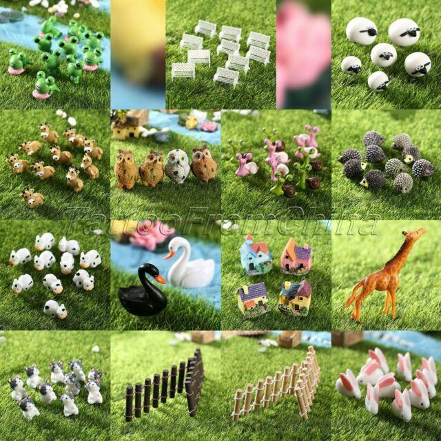 Fairy Garden  Miniature Models Resin Animals Figurine Mini Statue Craft