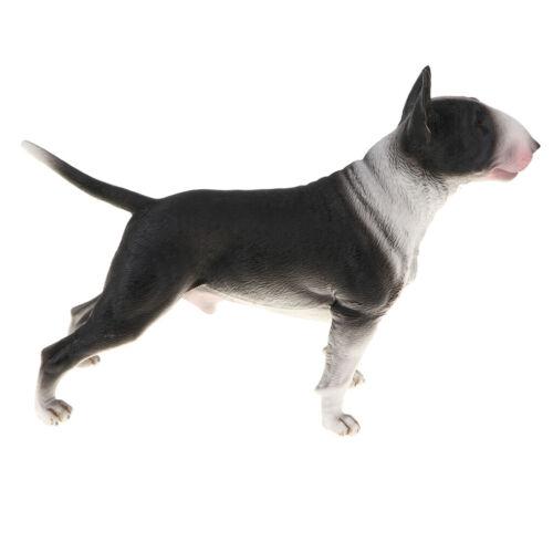 Lebensechte Tiermodell Figur Spielzeug Hund Figur Home Decor Bullterrier