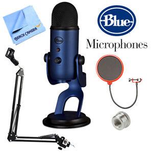 BLUE MICROPHONES Yeti USB Microphone Midnight Blue w/ Accessories Bundle