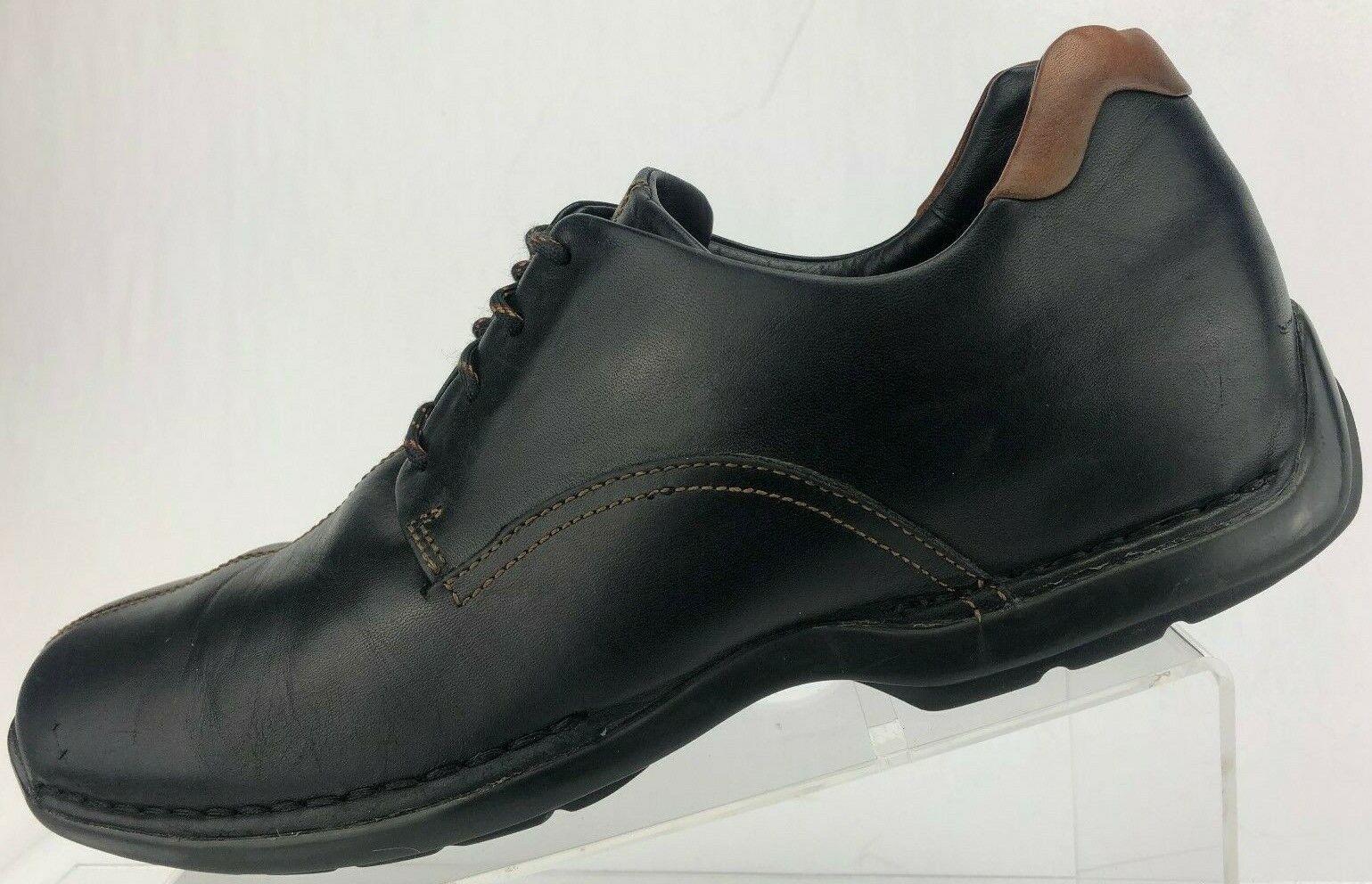 Cole Haan Zeno Lace Up II II II Split Toe nero Casual Leather Oxfords Uomo 10.5 M bb438a