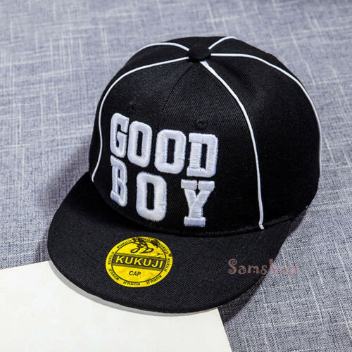 Kids Good Boy Letter Baseball Cap Children Boy Girl Sun Hip Hop Hat Adjustable
