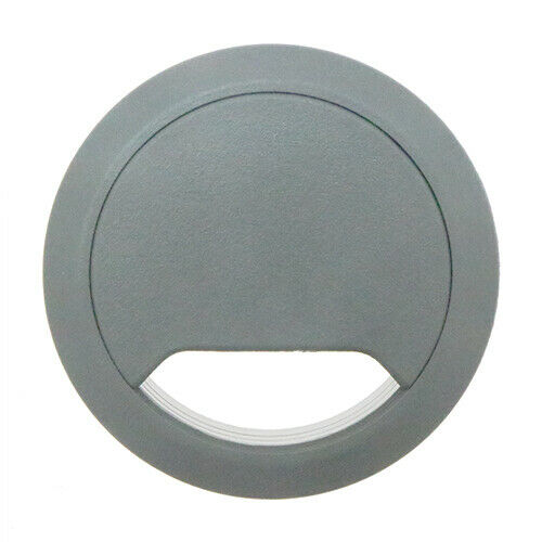 5 Grey Desk Cable Tidies 65mm, Grommets, Hole Inserts, Cable Outlet, Organisers