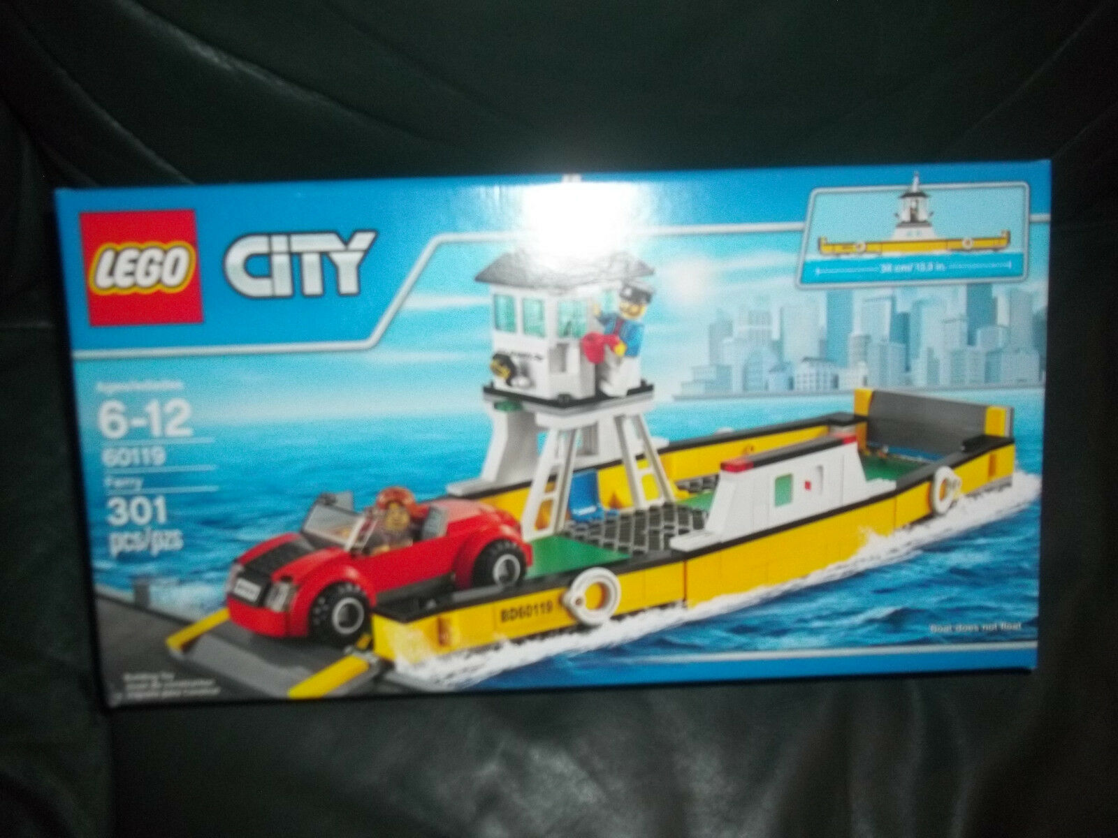 LEGO Ferry new sealed sealed sealed set 60119 boat with red car, global shipping 0cca6e