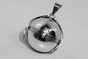 925-Silver-Family-Photo-Ball-Locket-Fob-Pendant-for-6-photos-FREE-Engraving