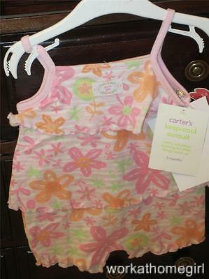 Nwt Carters Infant Girls 3 Mos Bubble Suit Brand New Pink
