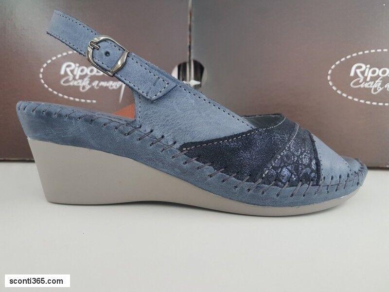 Riposella Sandalo Linea cucita a mano - Gratuita Art. 11231(Blue)