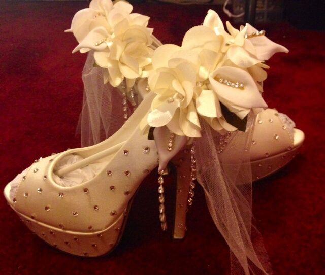 Custom Crystal Wedding Shoes Formal Shoes Prom Homecoming Shoes Homecoming Prom Shoes Satin dea10f