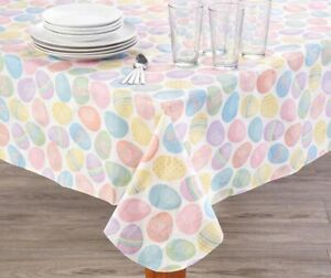 1x Fun Festive Brightly Colored Easter Egg Themed Peva Tablecloth 52 X 70 739550347074 Ebay