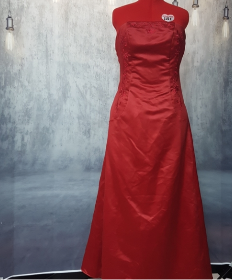 Scott McClintock formal Red strapless long evening prom gown size 12