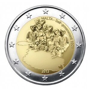 Malta-2-euro-2013-Unc-034-1921-Self-Government-034-Commerative-Herdenking