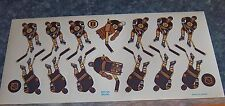 Coleco hockey team Sticker Sheet Boston Bruins 1980's -90's table  hockey
