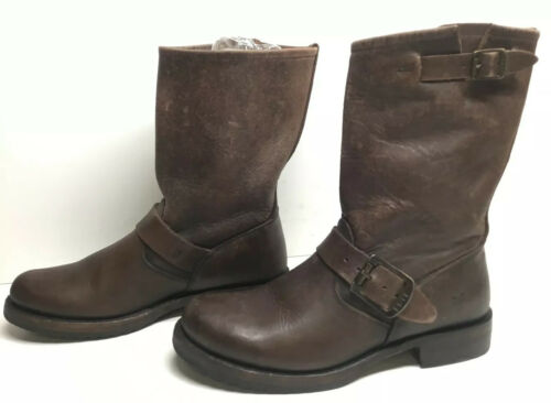 VTG YOUNG WOMENS FRYE ENGINEER BROWN BOOTS SIZE 5?