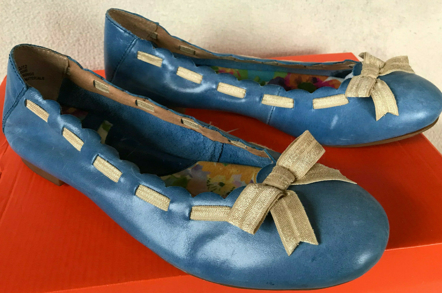 punti vendita Born Marnee B78804 blu blu blu Burnished Leather Slip-On Ballet Flats scarpe Donna  8.5  in vendita