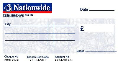 3 SIZES Presentation for Charity LARGE JUMBO HSBC BLANK CHEQUE