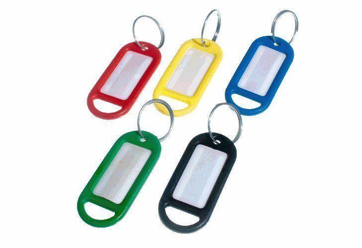 Neuf Porte Clé Étiquette Porte-Clés Partagé D'Adresse 5 colors Assorties