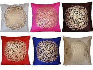 Tejido-de-terciopelo-Cubierta-Cojin-de-impresion-de-oro-16-034-40cm-Decoracion-Rosa-Azul-Rojo-Indio