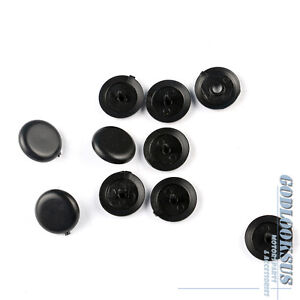 5X-Black-Knob-Stopper-Plastic-Button-Universal-Safety-Seat-Belt-443857847b4pk