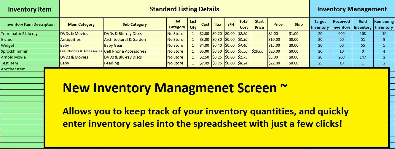 mycost2016 ebay profit track sales inventory spreadsheet for 2016