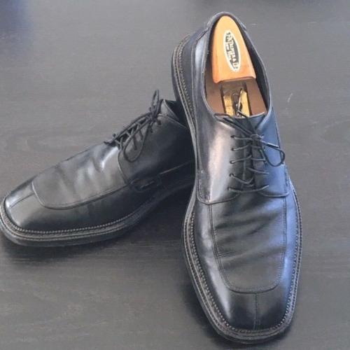 Salvatore Ferragamo Mens Black Oxfords Split Toe S