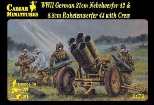 Soldatini-1-72-German-Nebelwerfer-42-amp-Raketenwerfer-43-Caesar-Miniatures-H093